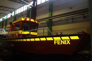 Strängnäs brandförsvars båt